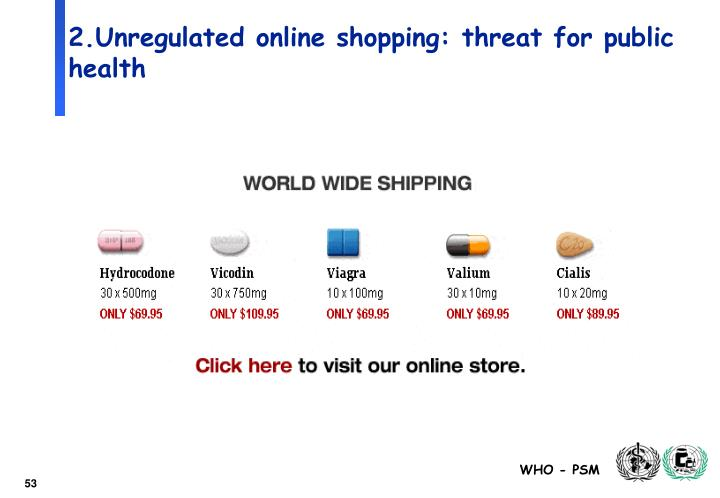 2.Unregulated online shopping: threat for public health