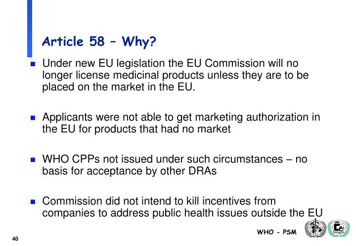 Article 58 – Why?