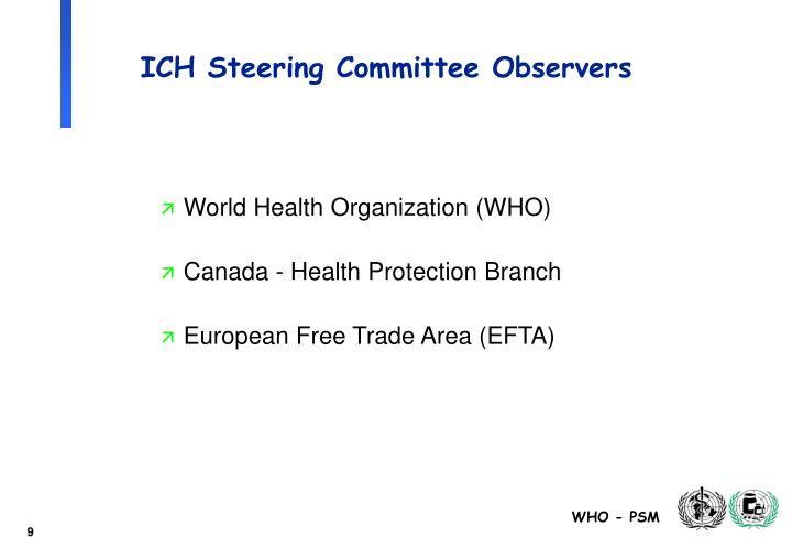ICH Steering Committee Observers