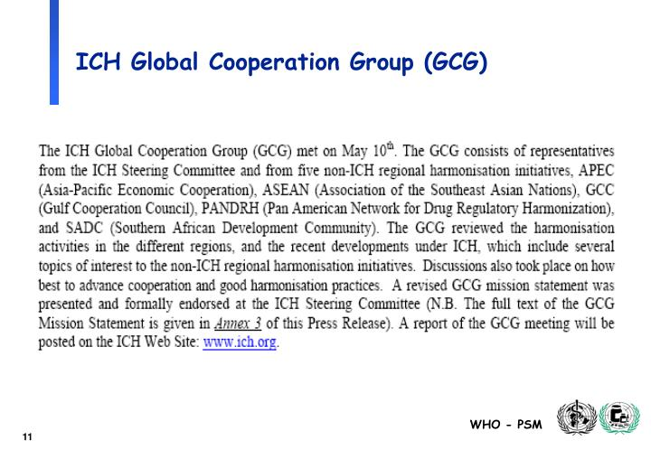 ICH Global Cooperation Group (GCG)