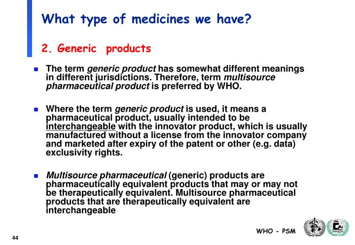 What type of medicines we have?