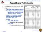 assembly and test schedule1