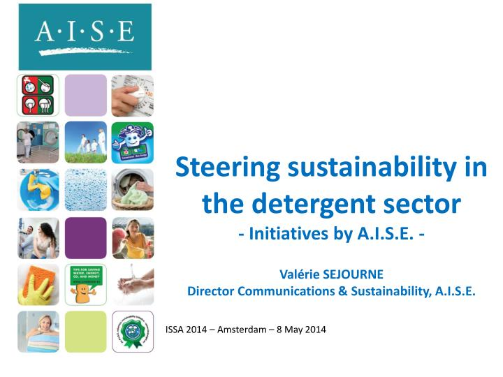 Steering sustainability in  the detergent sector