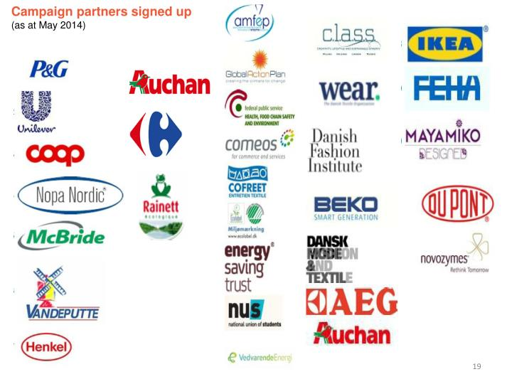 Campaign partners signed up