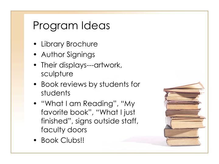 Program Ideas