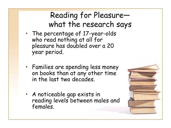 Reading for Pleasure—