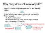 why ruby does not move objects