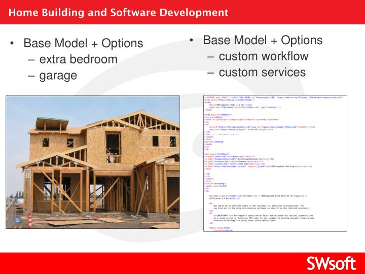 Home Building and Software Development