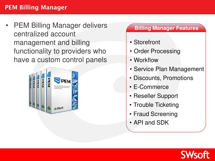PEM Billing Manager