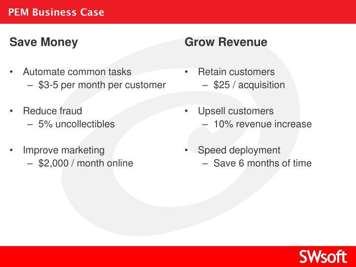 PEM Business Case