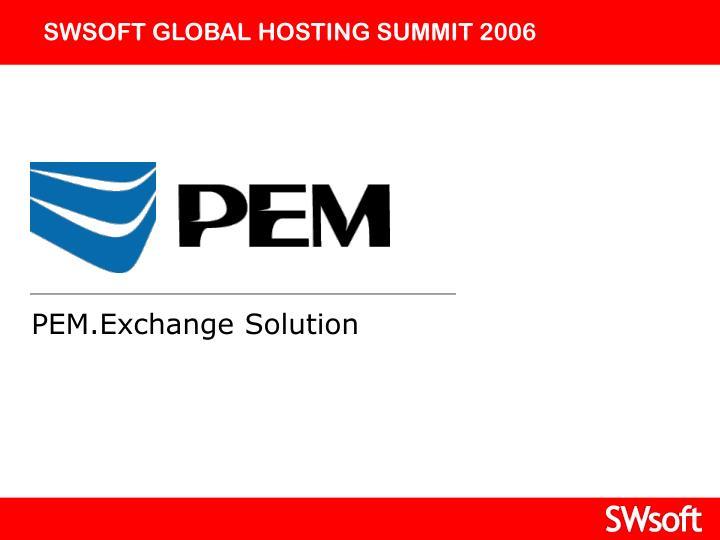 SWSOFT GLOBAL HOSTING SUMMIT 2006