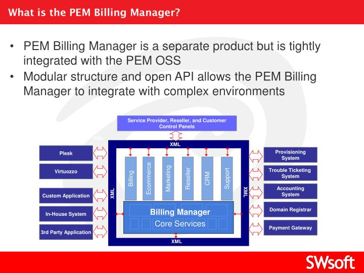 What is the PEM Billing Manager?