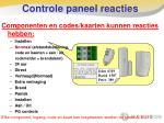 controle paneel reacties