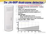 de ja 86p dual zone detector