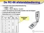 de rc 86 afstandsbediening