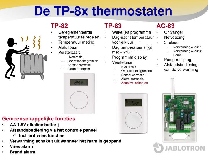De TP-8x thermostaten