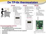 de tp 8x thermostaten