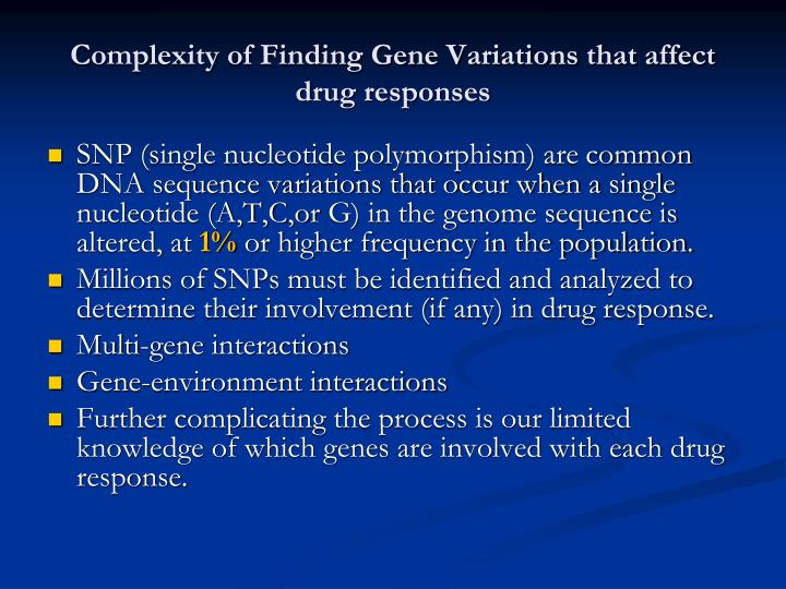 Complexity of Finding Gene Variations that affect drug responses
