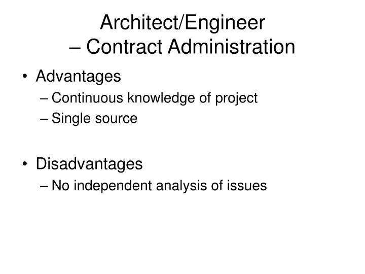 Architect/Engineer