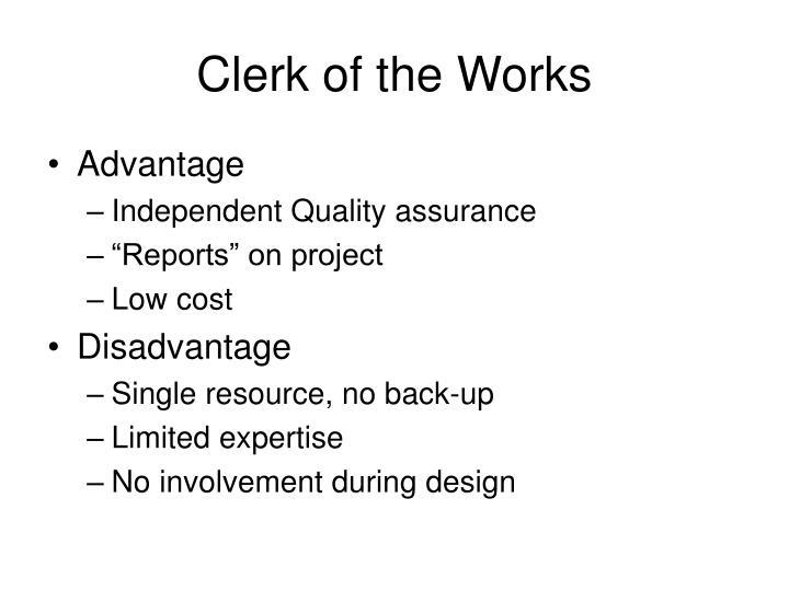 Clerk of the Works