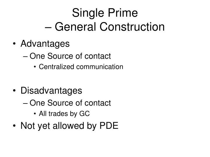 Single Prime