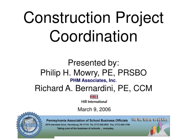 Construction Project Coordination