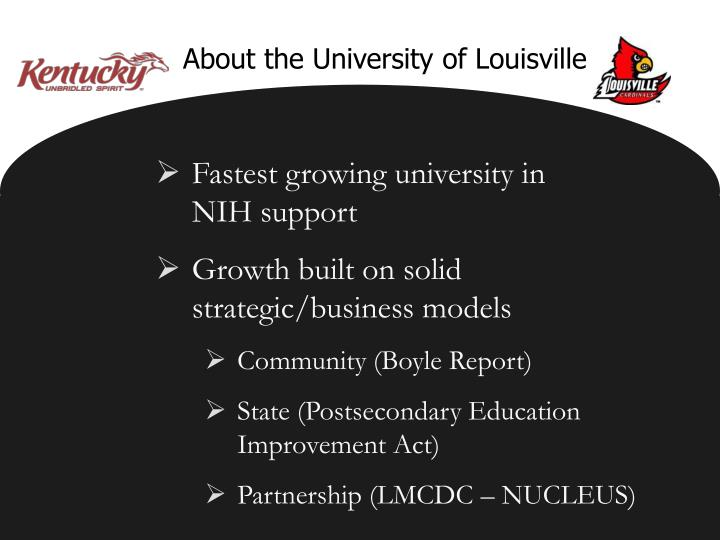 About the University of Louisville