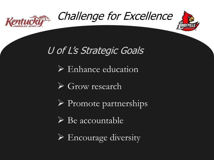 Challenge for Excellence