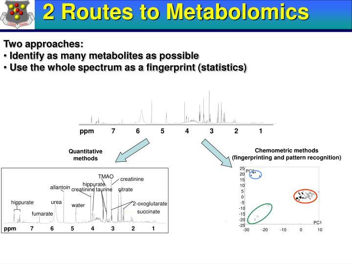 2 Routes to Metabolomics