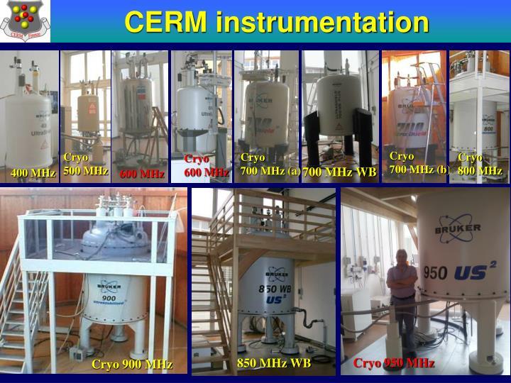 CERM instrumentation