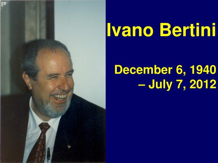 Ivano Bertini