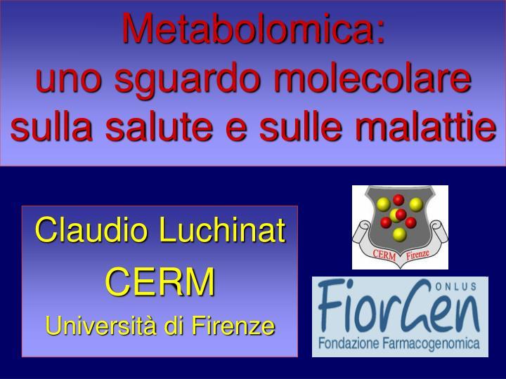 Metabolomica: