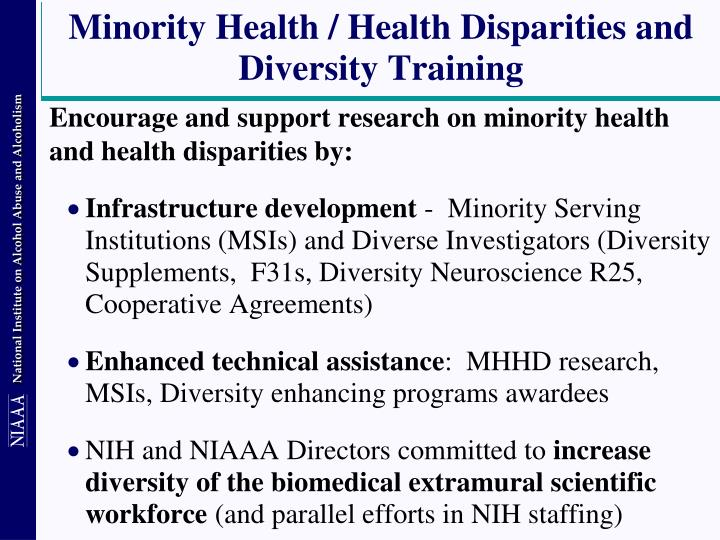 Minority Health / Health Disparities and Diversity Training