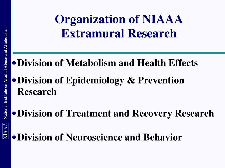 Organization of NIAAA