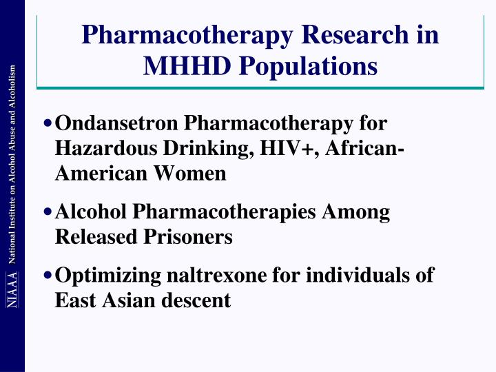 Pharmacotherapy Research in