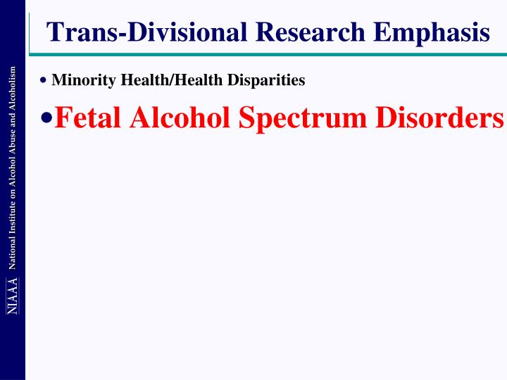 Trans-Divisional Research Emphasis