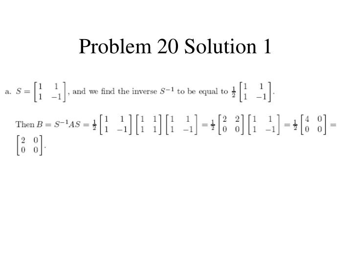 Problem 20 Solution 1