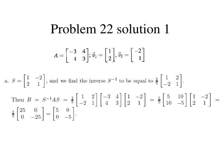 Problem 22 solution 1