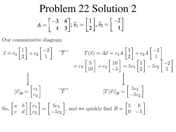 Problem 22 Solution 2