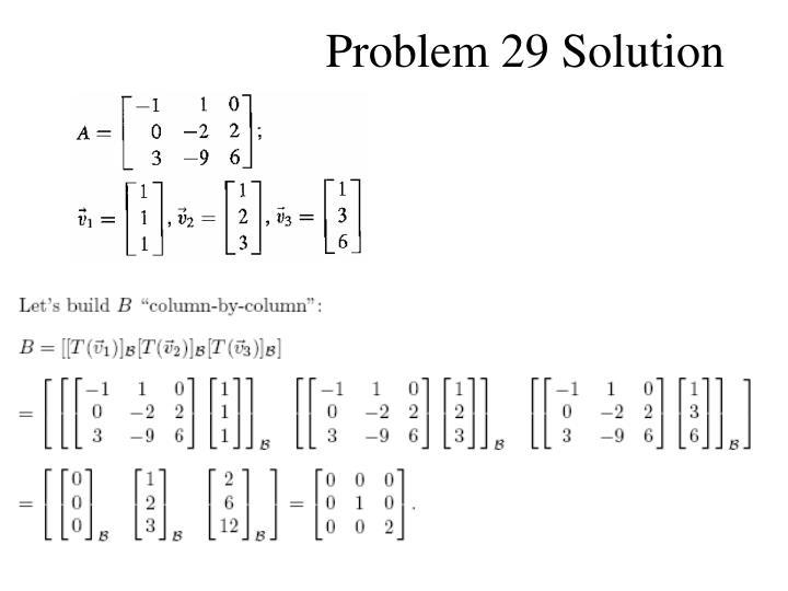 Problem 29 Solution