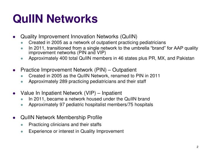 QuIIN Networks