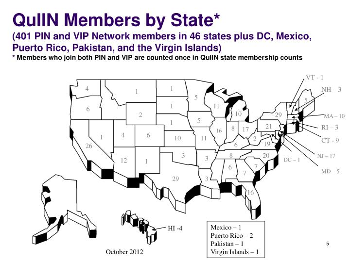 QuIIN Members by State*