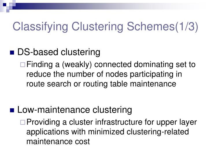 Classifying Clustering Schemes(1/3)