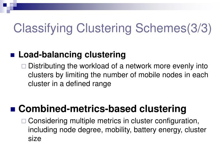 Classifying Clustering Schemes(3/3)