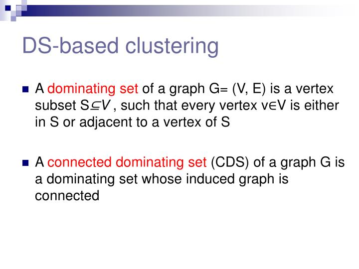 DS-based clustering