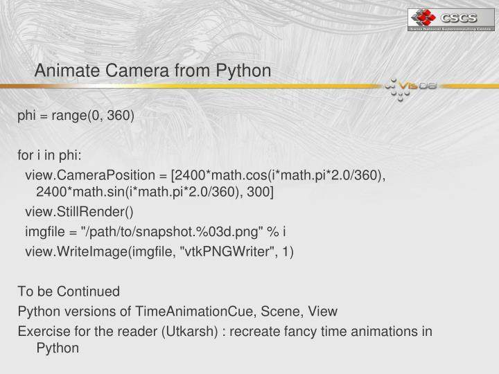 Animate Camera from Python