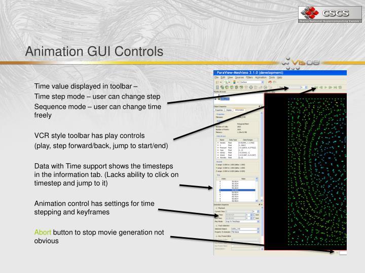 Animation GUI Controls