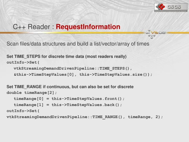 C++ Reader :