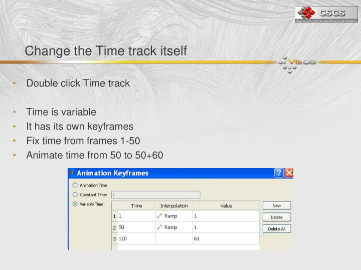 Change the Time track itself
