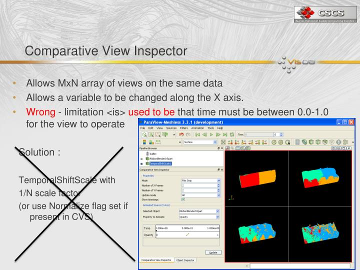 Comparative View Inspector
